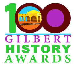 100 Gilbert History Awards logo