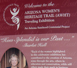 Banner of Arizona Women's Heritage Trail